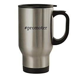#promoter – 14oz Stainless Steel Travel Mug, Silver