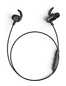 Anker SoundBuds Slim+ Wireless Headphones, Bluetooth 4.1 Lightweight Stereo Earbuds with Customizable Accessories, Sports Headset with Metallic Housing & Built-in Mic (Black)