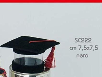 STOCK 24 PEZZI Scatolina Cappello Tocco Laurea Nero portaconfetti porta  confetti PVC trasparen  Amazon.it  Casa e cucina e192829812ad