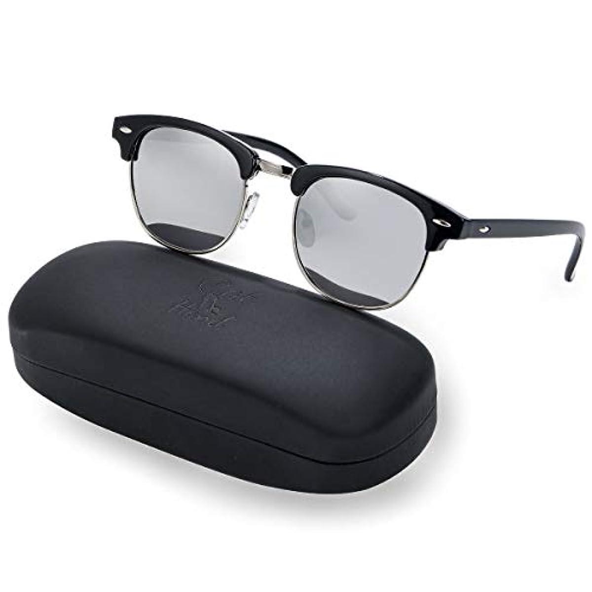 [해외] 캣 핸드 썬글라스 맨즈 편광 렌즈 새먼salmon도 블로우 퍼터입 클래식 UV 400 컷 자외선 방지