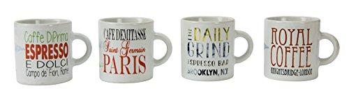 Boston Warehouse Sightseeing Espresso Cups (Set of 4), 4 oz