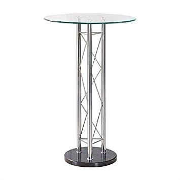 Amazon.com: Global Furniture Mesa Alta de Bar, transparente ...