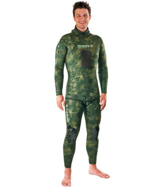 Mares Pure Instinct 5mm Jacket, Green Camo, S6 X-Large by Mares