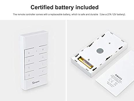 Case Funciona con SONOFF RF//Slampher//4CH Pro//TX Series//RF Bridge Aihasd SONOFF RM433 8 llaves Personalizado multiprop/ósito RF de 433 MHz Control remoto