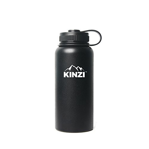 Kinzi Insulated huge by mouth Stainless precious metal minera Bottle, 32 oz