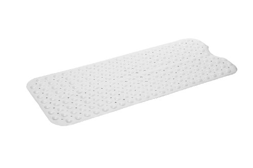 Simple Deluxe Slip-Resistant Bath Mat, Extra Long, White