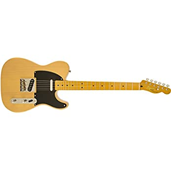Squier by Fender Classic Vibe 50s Hand Telecaster Electric Guitar - Butterscotch Blonde - Maple Fingerboard