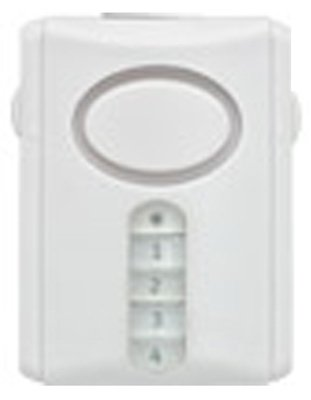 GE Jasco 45117 Wireless Battery Operated Magnetic Door Alarm With Keypad