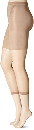 (SPANX High-Waisted Footless Body-Shaping Pantyhose (F, NUDE1))
