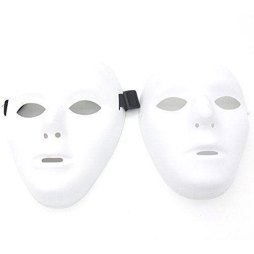 Kvvdi Scary White Blank Face Masks For Halloween DIY (Female+Male, White) (Diy Scary Halloween Masks)