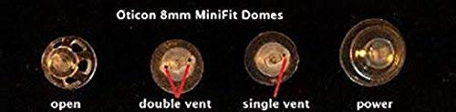 Oticon Minifit 8mm Double Bass Domes (20 PACK)