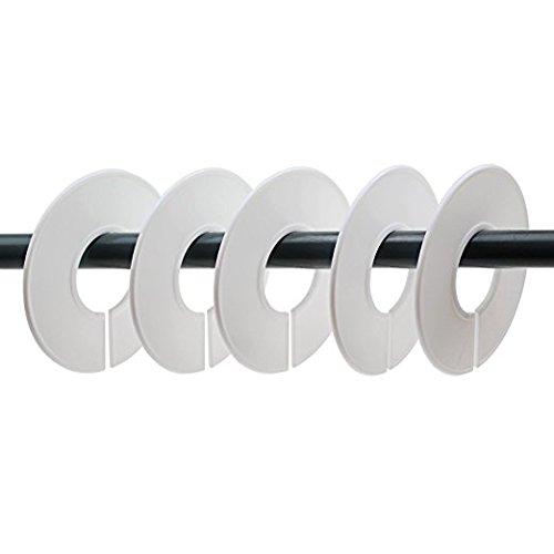 Pingranso 10/pz Clothing rack size Round grucce divisori con 1/pezzi pennarello