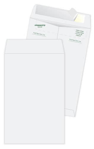 Quality Park Tyvek Catalog Envelope, 10 Inches x 13 Inches, White, Pack of 12