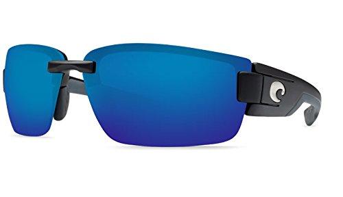 Costa Del Mar Rockport Sunglasses, Black, Blue Mirror 580P - Del Mar Costa 580p