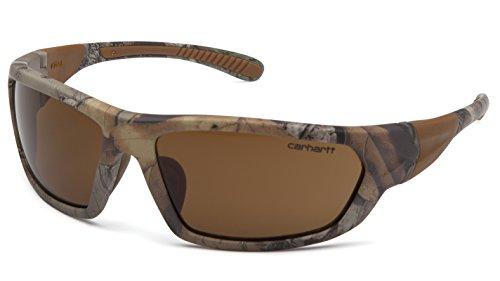Carhartt CHRT218D Carbondale SAFETY Glasses, Realtree Xtra Frame, Sandstone Bronze Lens 1