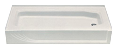 Kinro Composites ALM-5428 RH-SPK HVY Gauge Almond 28X54 Right Shower Pan (54 Shower Pan)