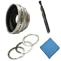 Flip Video 2.0x Telephoto (Modification Style) Magnetic Lens + DIGI Micro-Fiber Cleaning Cloth + Pro Lens Cleaning Pen.