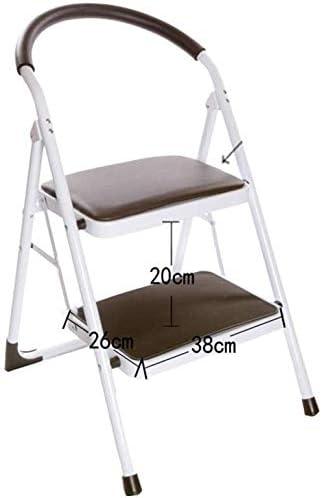 SED Escaleras de tijera multipropósito, plegables 2 escalones Escalera unilateral de arte de hierro para escalera interior Loft Escalera antideslizante Taburete,Negro: Amazon.es: Bricolaje y herramientas