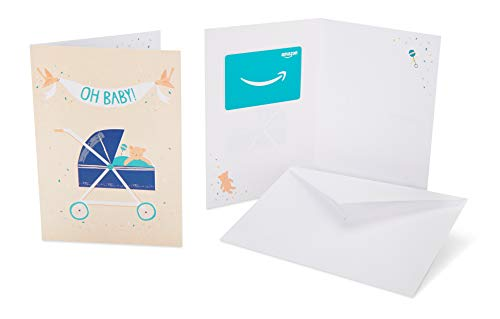 Amazon.com Gift Card in a Greeting Card (Baby Stroller Design)