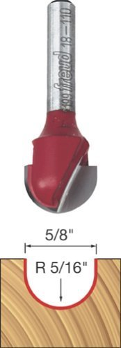(Freud 18-110 5/8-Inch Diameter Round Nose Router Bit with 1/4-Inch Shank by Freud)