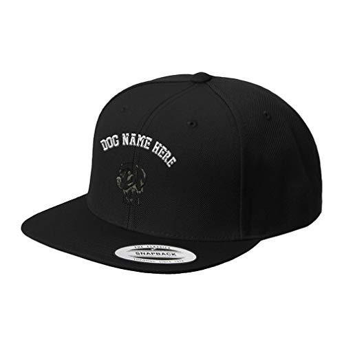 Weimaraner Baseball Hat - Custom Snapback Baseball Hat Weimaraner C Embroidery Dog Name Acrylic Cap Snaps - Black, Personalized Text Here