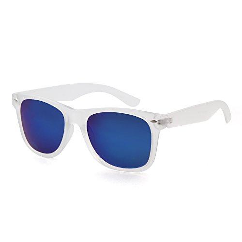 ADEWU Classic Wayfarer Revo Vintage Large Mirror Lens Sunglasses UV400 - Wayfarer Big Style Sunglasses For Heads