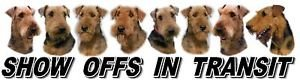 Airedale Terrier Show Off Car Window Sticker