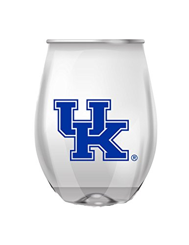 JAYMAC Kentucky Stemless Shatterproof Heavy Duty Wine or Beverage Glass Set of 4 (Wildcats Glass)