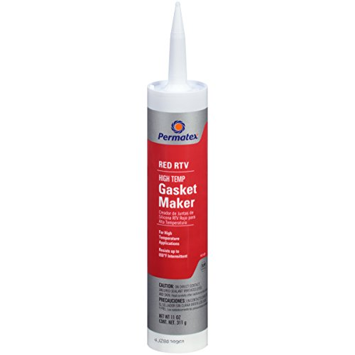 Permatex 81409-12PK High-Temp Red RTV Silicone Gasket, 11 oz. (Pack of 12) by Permatex