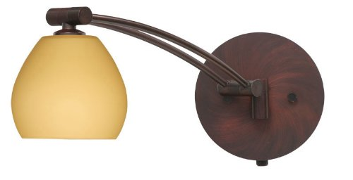 Besa Lighting 1WW-5605VM-BR 1X50W Gy6.35 Tay Tay Wall Sconce with Vanilla Matte Glass, Bronze Finish (Matte Vanilla 5605vm)