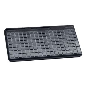Cherry SPOS G86-63410 POS Keyboard - 142 Keys - 142 Relegendable Keys - Magnetic Stripe Reader - USB - Black G86-63410EUADAA by Generic
