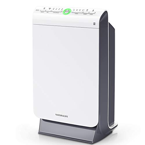 NATURALIFE Air Purifier for Home with True HEAP Filter, Air Cleaner with 4 Stage Filtration