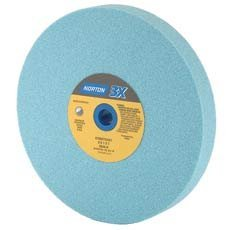 Norton Abrasives - St. Gobain 05422 ProSand Type 01 Bench and Pedestal Grinding Wheel (3X80-K), Ceramic Alumina Abrasive, 1'' Thick x 8'' Diameter by Norton Abrasives - St. Gobain