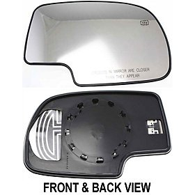 Gmc Yukon Power Mirror (Tahoe Suburban Escalade Gmc Yukon Xl Denali 00 - 06 Power Heated Mirror Glass)