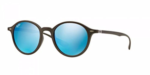 Ray-Ban INJECTED UNISEX SUNGLASS - MATTE DARK GREY Frame GREY MIRROR BLUE Lenses 50mm - Ray Blue Liteforce Ban