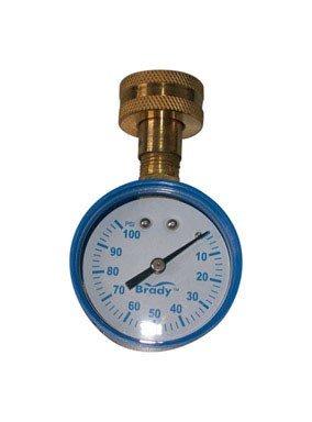 (Brady Pressure Gauge 0-100 Psi 3/4