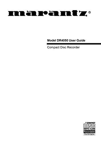 Marantz Cd Recorder (Marantz DR4050 CD Recorder Owners Instruction Manual)