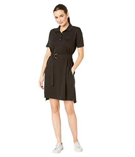 Lacoste Women's Relaxed FIT Classic Polo Dress, Black ()