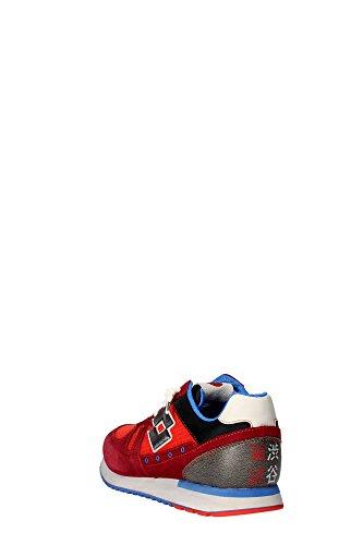 Lotto S3291 Sneakers Hombre Cuero Rigido Rojo 45 rlZrf30Tv