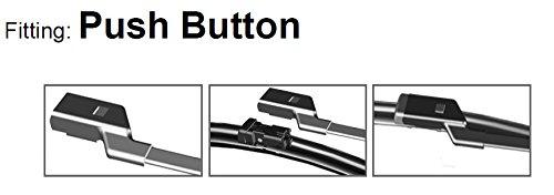 Juego de escobillas planas para limpiaparabrisas frontal sin marco Flat Aero ADB81-624, 2 unidades, de HQ Automotive: Amazon.es: Coche y moto