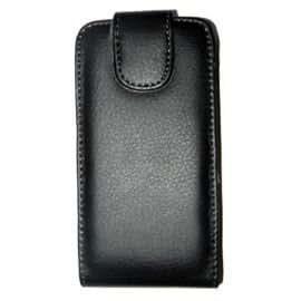 Accesoriosparamovil® - FUNDA DE PIEL CIERRE TOP PARA NOKIA Lumia 620 - NEGRO + 2 Protectores de Pantalla