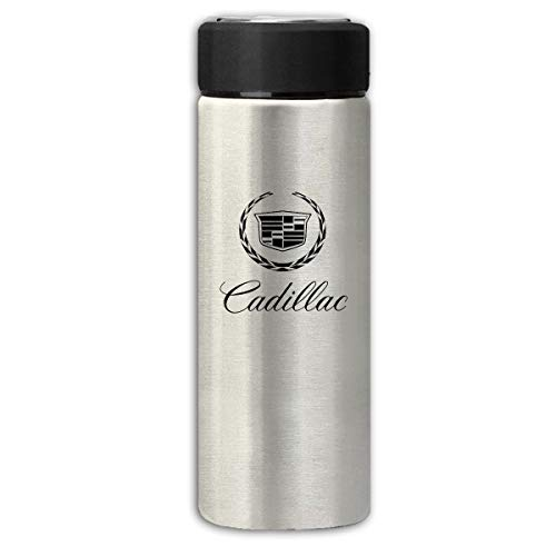 (BOSIJCAI New Thermos Flask Cadillac 2000 Logo Frosted Beverage Bottle for Hot/Cold Drink Coffee Or Tea Gray)