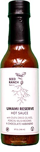 Umami RESERVE Hot Sauce - Chocolate Habanero Heat - Savory Sauce - Gluten Free, Low Carb - Seed Ranch