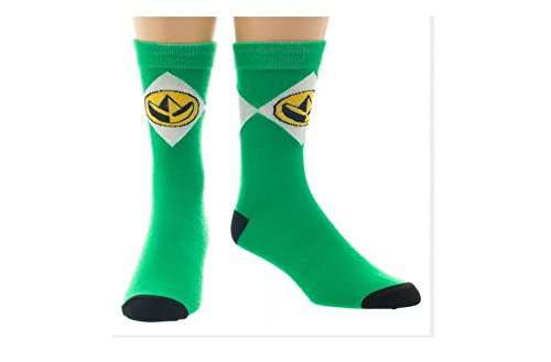 Green Mighty Morphin Power Rangers Crew Socks -