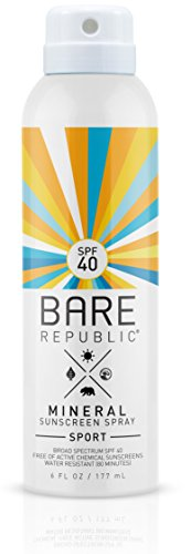 Bare Republic Mineral SPF 40 Sunscreen Spray: SPORT - 6oz