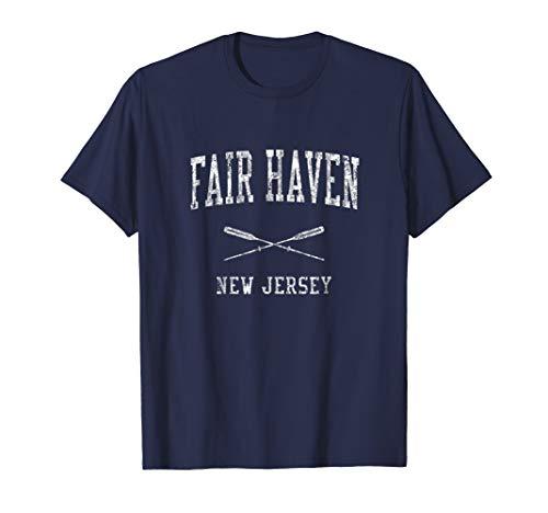 Fair Haven New Jersey NJ Vintage Nautical Sports Design Tee