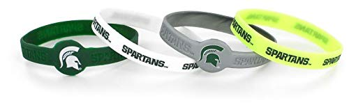 State Spartans Silicone Bracelets, 4-Pack ()
