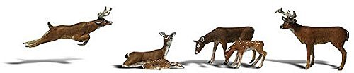(Woodland Scenics HO Scale Scenic Accents Figures/Animal Set Deer White-Tail (6) by Woodland Scenics)