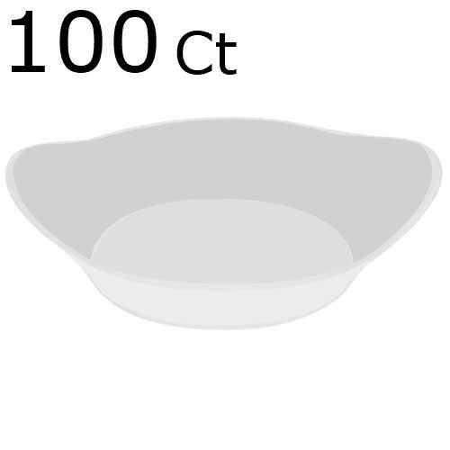 100 White Plastic Mini Dessert Plates - Small Plates Cocktail Party Plates Relish Dish Sushi Pie Tasting Plates Sample Plates Elegant Plastic Plates Or Candy Appetizer Bowls