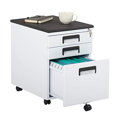 STUDIO DESIGNS INSPIRING CREATIVITY WWW.STUDIODESIGNS.COM Office Rolling File Cabinet with Drawers in White -  37014BOX